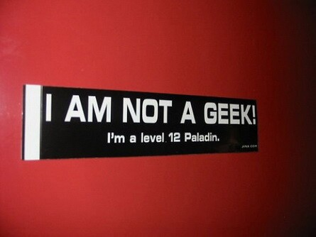 Je ne suis pas un geek ! - i am not a geek i m a level 12 paladin
