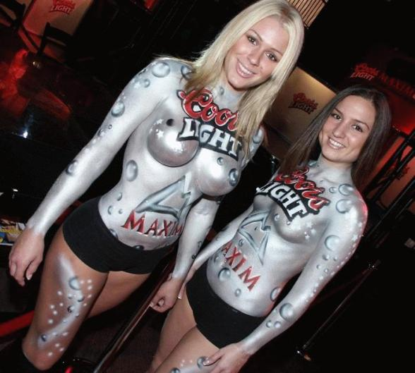 Coorl Light Models Sexy Body Painting